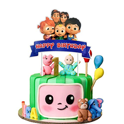 MC TTL cocomelon Cake Toppers for Kids Birthday Party Cake Decoration.