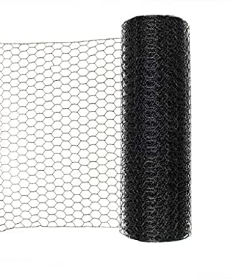 """Stromberg's 1"""" Hex Galvanized PVC Coated Wire; Chicken Wire Fence; Aviary Fencing 5' x 100'"""