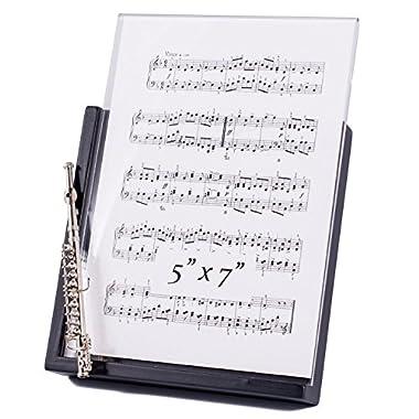 Silver Flute Decorative Classic Black 5x7 Picture Frame
