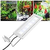 Cikonielf Luce per Acquario a LED Luce per Serbatoio per Pesci Super Luminosa Serbatoi per Pesci Luce a LED per Acquario Piante acquatiche Luce a Clip con staffe estensibili