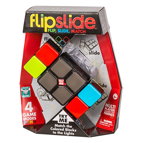 Flipslide Game, Electronic Handheld Game | Flip, Slide, and Match the Colors to Beat the Clock - 4 Game Modes - Multiplayer Fun