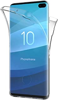AICEK Funda Samsung Galaxy S10 Plus Transparente Silicona 360°Full Body Fundas para Samsung S10+ Carcasa Silicona Funda Case