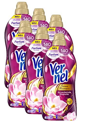 Vernel Aromatherapie Bezaubernde Magnolie, Weichspüler für einen langanhaltenden Duft und traumhaft weiche Wäsche (408 (6 x 68) Waschladungen)