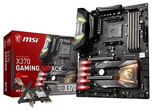 MSI X370 Gaming M7 ACK - Placa Base Enthusiast (SATA III, DDR4-3200, SSD M.2, AMD X370, Ryzen 7, zócalo AM4, USB 3.1 y 2.0, ATX) Color Negro