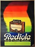 Radiola Radio Reproduktion, Poster, Format 50 x 70 cm,