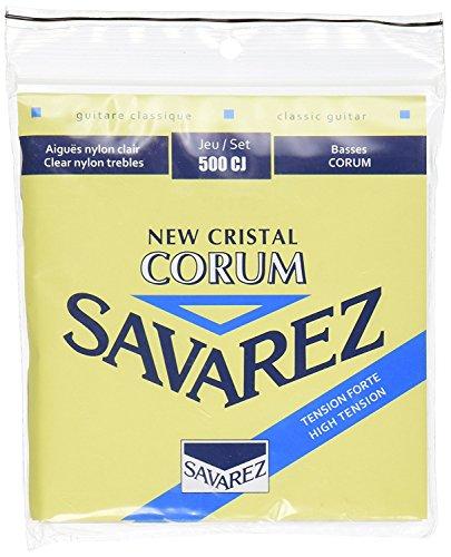 CUERDAS GUITARRA CLASICA - Savarez (500/CJ) Corum New Crystal Azul (Juego Completo)