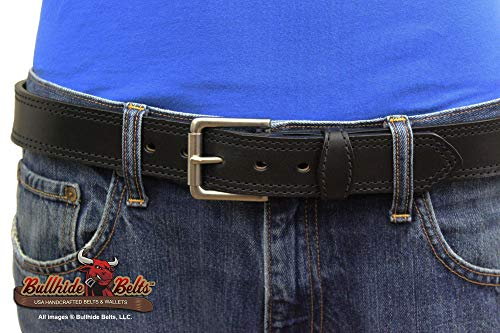 Bullhide Belts Mens Leather Casual & Dress Belt, USA Made