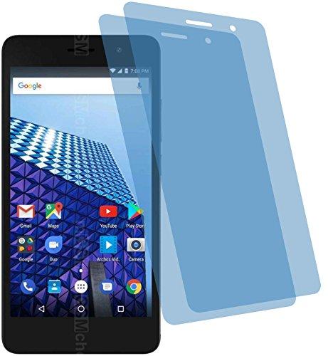 4ProTec I 2X Crystal Clear klar Schutzfolie für Archos Access 50 Color 4G Bildschirmschutzfolie Displayschutzfolie Schutzhülle Bildschirmschutz Bildschirmfolie Folie