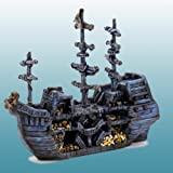 Domestic Pet Aquariums Decorations Pirate Treasure Ship Bow Beautiful