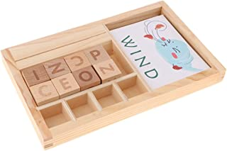 B Blesiya Toddler Learning English Toys Word Spelling Board Montessori Kids Early Intelligent Development