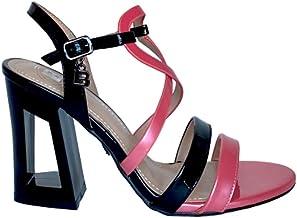 Sandali con Tacco Geometrico