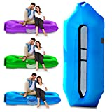 IceFox [2020 Version Inflatable Lounger Air Sofa, Inflatable Pool Floats,Water Proof& Anti-Air Leaking Design-Ideal Couch, Cool Inflatable Chair for Hiking Gear, Beach Chair& Music Festivals (Blue)