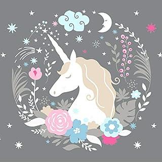 fabriqu/é en Allemagne Frise chambre enfant fille de 450 x 11,5 cm lovely label Frise murale adh/ésive enfant /à motifs licornes rose-gris D/écoration murale chambre b/éb/é autocollante et non toxique