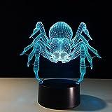 Spider Transparent Fairy a ing Lambas 3D LED Night Light USB Lámpara de mesa Niños regalo de cumpleaños Mesita de noche decoración del hogar