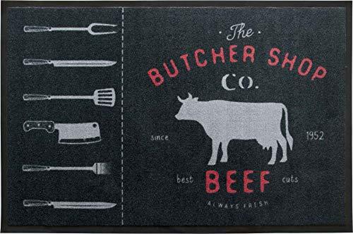 Primaflor - Ideen in Textil BBQ Grill-Schutz-Matte Grillunterlage - 80 x 120 cm, Beef, rutschfeste Bodenschutzmatte, Grill-Bodenmatte