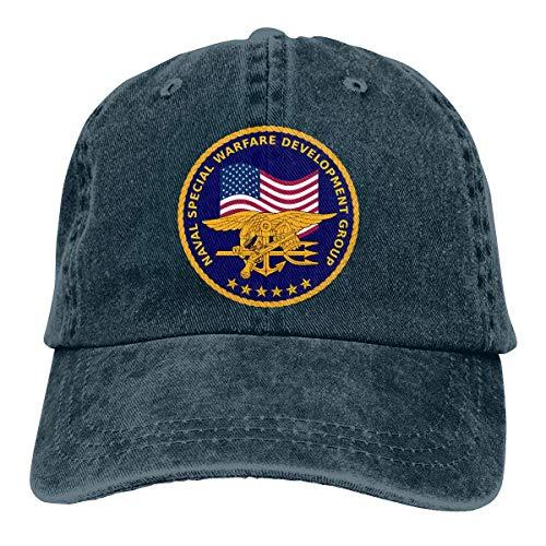 ONGH Männer Frauen Distressed Denim Stoff Baseball Cap US Navy Seal Team Sechs Golfhüte