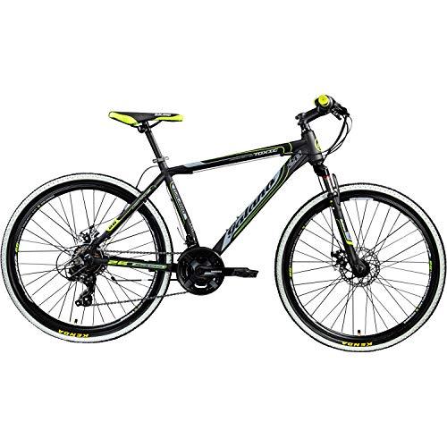 Galano 26 Zoll Toxic Mountainbike Hardtail MTB Jugendmountainbike Jugendfahrrad (schwarz/grün, 46 cm) - 2