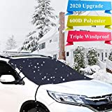 Vilege Windshield Snow Cover Winter car Accessories Frost Guard Windshield Cover Windshield Protector 2020 Newest Version Super Sturdy Extra Large