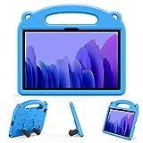 EasyAcc EVA Funda Compatible con Samsung Galaxy Tab A7 10.4 2020 SM-T500 T505 T507, Funda Protectora Resistente Ultraligera a Prueba de Golpes Asa Convertible Función de Soporte, Azul
