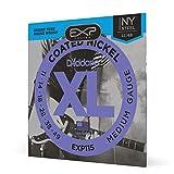 D'Addario EXP115 - Juego de Cuerdas para Guitarra Eléctrica de Acero y Níquel, 011' - 049, Transparente