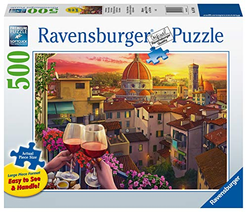 Ravensburger 16796 Cozy Wine Terrace - 500 PC Puzzles Large Format for Adults – Every Piece is Unique, Softclick Technology Means Pieces Fit Together Perfectly