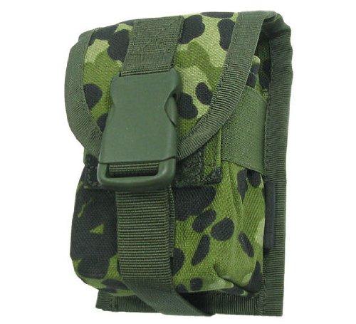 BE-X Magazintasche 7,62mm für MOLLE, für Zwei G3/M14/FAL Magazine - dänisch tarn