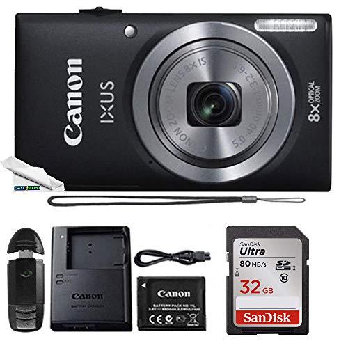 Powershot Ixus 185 / ELPH 180 20MP Compact Digital Camera Black with 32GB Memory Card