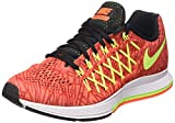 Nike Wmns Air Zoom Pegasus 32 Print - Zapatillas Mujer, Arancione (Hyper Orange/Volt-Unvrsty Red), 36 1/2