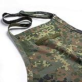 FLECKTEX® Grill Schürze & Kochschürze Premium Männer Geschenke zum Grillen Camouflage Küchenschürze mit KLETTSTREIFEN
