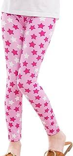Minuya - Leggins para bebé y niña, cintura elástica, diseño de flores, largos, para entrenamiento, de 2 a 14 años