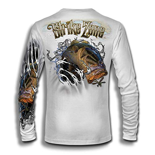 Jason Mathias Strike Zone Bass LS High Performance Shirt White