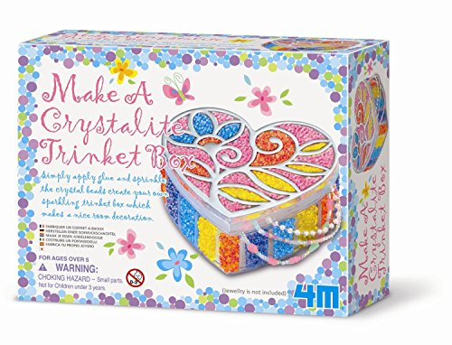 Belair Gifts Number One Selling Creative Activity Fun Arts & Crafts For Girls Age 5+ Make A Crystallite Trinket Box