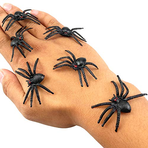 HUJIU Fake Spider Realistic Plastic Spider Toys Halloween Party Decoration April Fool's Day Gags...
