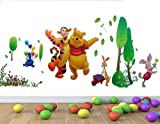 1 X Large Winnie The Pooh in The Garden - Removable Wall Stickers