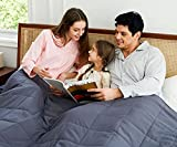 """AN King Weighted Blanket (20 lbs, 88"""" x 104"""") Perfect for Couples, King Size Heavy Blanket Breathable Cotton with Natural Glass Beads"""