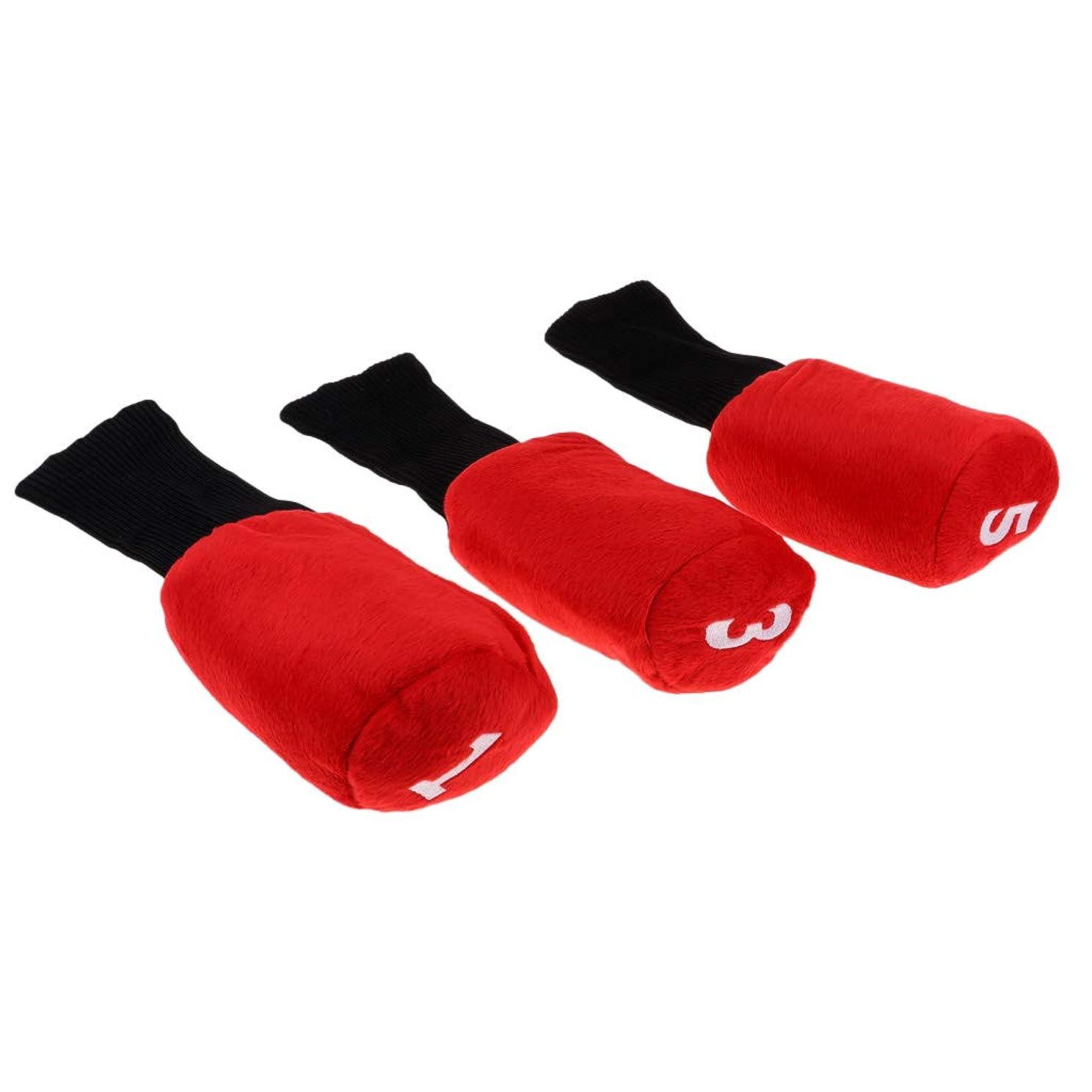 保護増幅器不安T TOOYFUL ロングネック ゴルフクラブ ヘッドカバー ウッドヘッドカバー 耐衝撃性 耐久性 3個セット