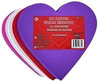 KINREX バレンタインデー フォームハート マルチカラー Lサイズ フォームハート型 ガールフレンド、ボーイフレンド、キッズ&大人用 バレンタインデコレーション クリエイティブハートカットアウト 6インチ 20個