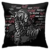 Trumpinginging Retro Decorative Throw Pillowcases for Couch & Party, NBA Youngboy Quotes Photo, Mite Proof Velvet Cushion Case with Hidden Zipper, 18 X 18 Inch ¡