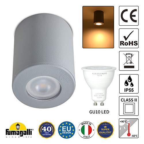 LED Mini Deckenlampe, Inkl 3,5W GU10 Strahler, IP55,für Flur Bad Terrasse Badezimmer Schlafzimmer Küche Balkon Wohnzimmer