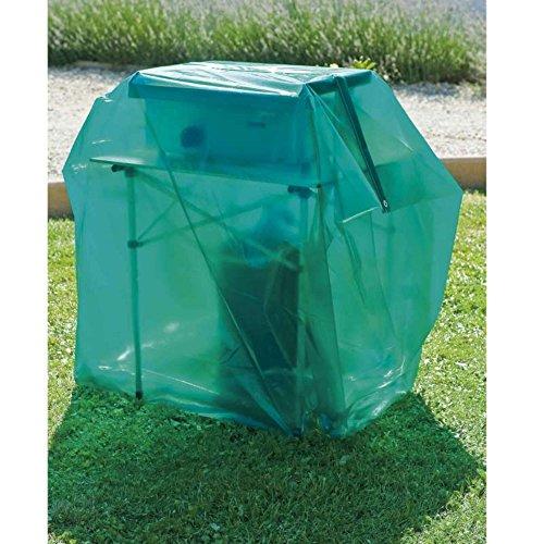 Maillesac JP0010 Housse pour Barbecue à Gaz Plastique Vert Translucide 21 x 27 x 4 cm Taille 2