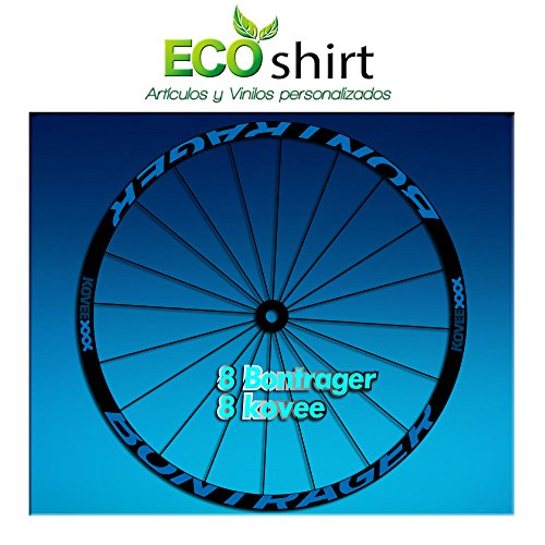 Ecoshirt 2V-LMHK-53UB Pegatinas Stickers Bontrager Kovee XXX Am207 Wheel Aufkleber Llanta Rim, Azul