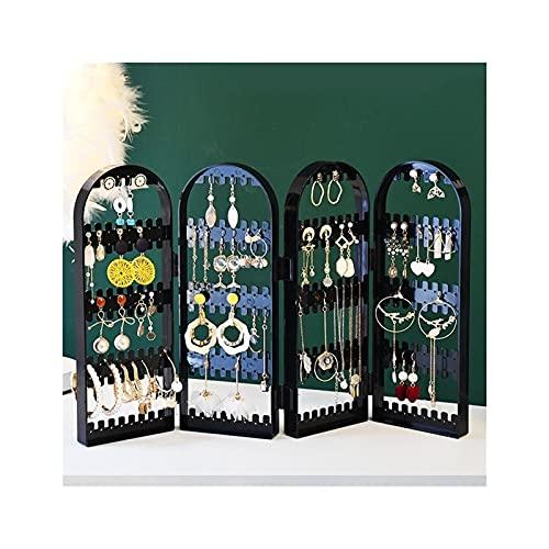 SONG Caja de Almacenamiento de Joyas Pendientes Plegables Pantalla Soporte Pulsera Organizador Multilapa Collar Estante Travel Portable Organizer Case (Color : D)
