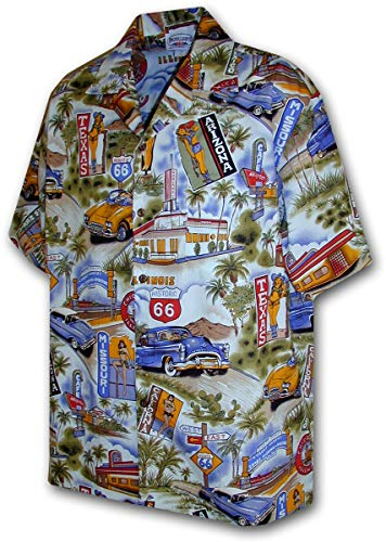 Route 66 Scenic Car Shirts in Blue 2XL(410-3644)