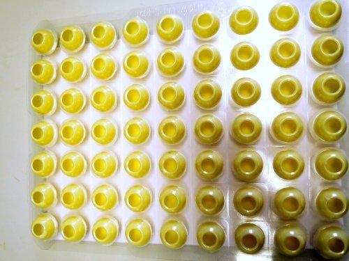 63 Trüffel Hohlkugeln - Hohlkörper - weiß - aus feinster Schokolade -