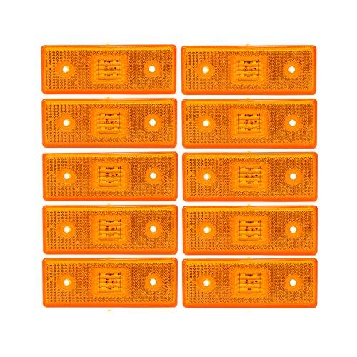 10x 4 SMD LED 12V 24V Positionsleuchte Umrißleuchte Begrenzungsleuchte LKW PKW Gelb + Halterungen