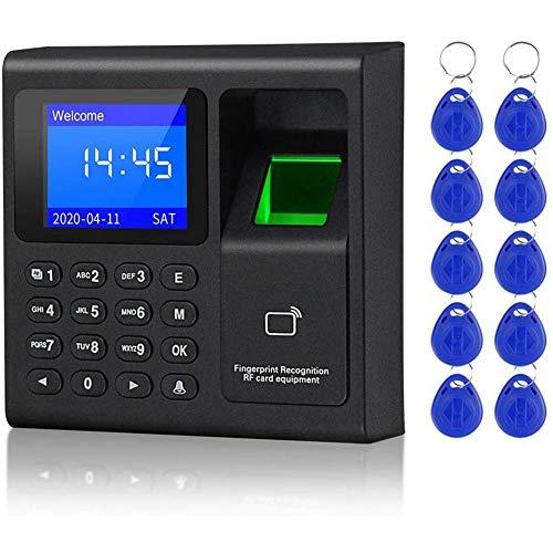 Fransande Sistema de Contrle de Acceso RFID Biométrico Teclado RFID Sistema de huellas digitales USB Máquina de presencia de reloj electrónico
