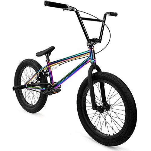 "Elite 20"" & 18"" BMX Bicycle Destro Model Freestyle Bike - 4 Piece Cr-MO Handlebar (20"" Oil Slick)"