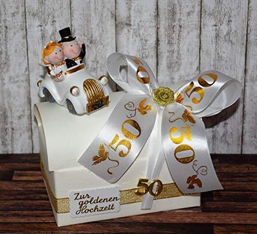 Geld Geschenk zur goldenen Hochzeit - Geschenkbox mit Auto