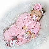 """Folder 22""""Real Touch Lebensechte wiedergeborene Puppen Weiches Silikon Vinyl Baby Puppe Mädchen Jungen Puppen Wiedergeborene Puppen mit kostenlosem Magnet Schnuller (Item 2)"""