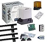 Faac Delta 2 Kit automatisation pour portails coulissants à usage résidentiel avec poids max 500 kg + crémaillère Hiltron avec boulons inclus